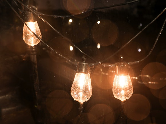 Solar Party Lights 10m with 10 Bulbs