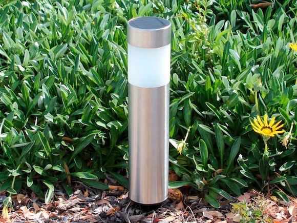 Solar Garden Light - Stainless Steel