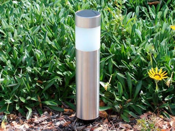 Solar Garden Light - Stainless Steel