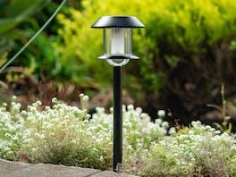 Solar Garden Stake Light - Black
