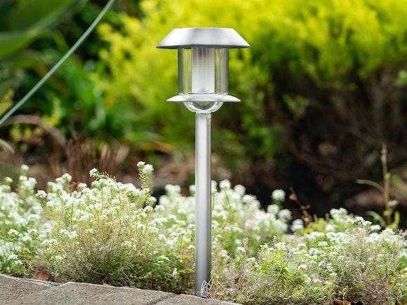Solar Garden Stake Light - Stainless Steel