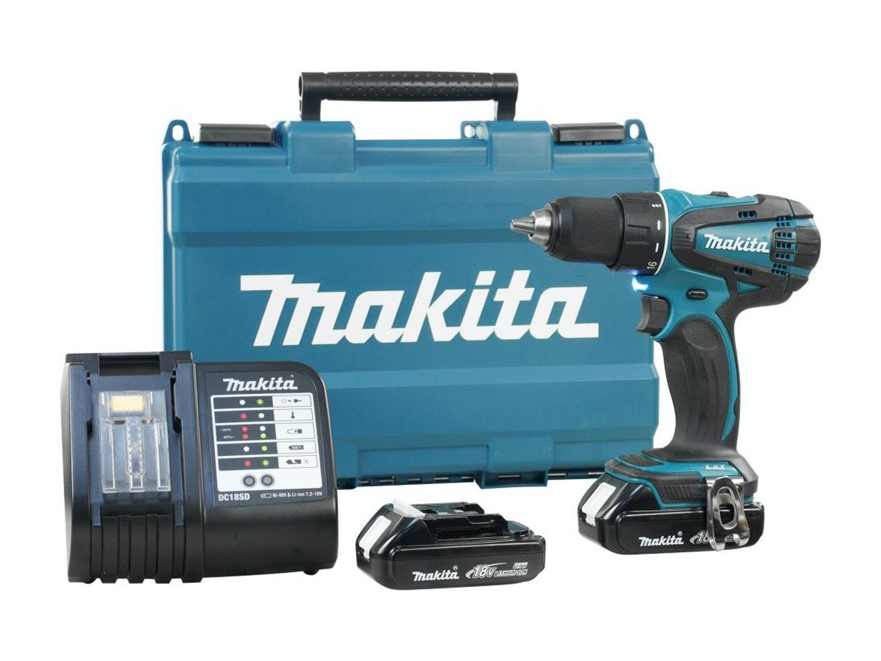 Makita Cordless Drill Driver 18V Li-Ion 1.5Ah