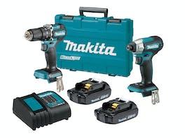 Makita 18V Brushless Hammer Drill Driver 2 Piece LXT 6.0Ah
