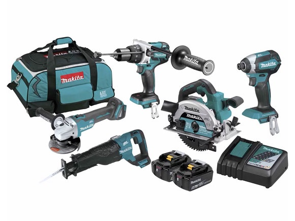 Makita 18V Job Site 5 Piece Brushless LXT 5.0Ah Kit