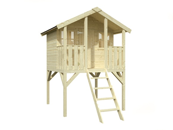 Kids Wooden Playhouse Toby 1.8m x 1.9m x 2.87m
