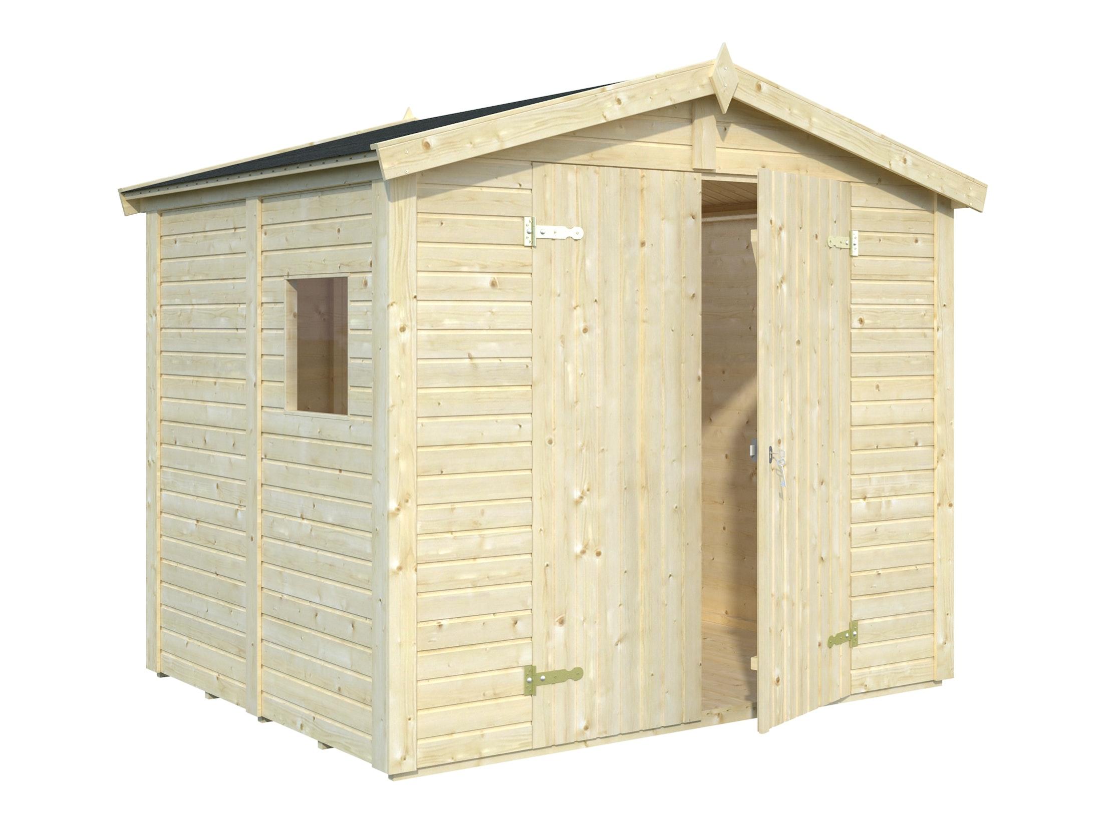 Wooden Garden Shed Dan 2.43m x 1.9m x 1.9m