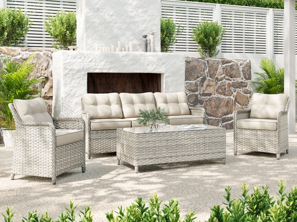 Brighton Rattan Outdoor Sofa Set