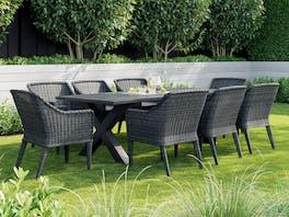 Sabi Outdoor Dining Set - 8 Seater