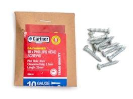 Galvanised Screws - Gauge 10 - 25mm (10 Pack)