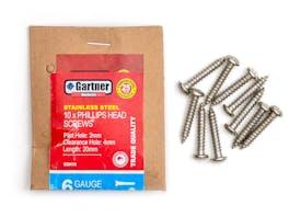 Stainless Steel Screws - Gauge 6 -20mm (10 Pack)