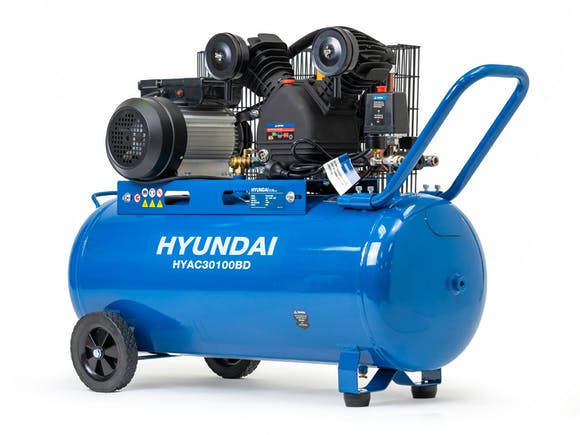 Hyundai Air Compressor Belt Drive 3HP 100L