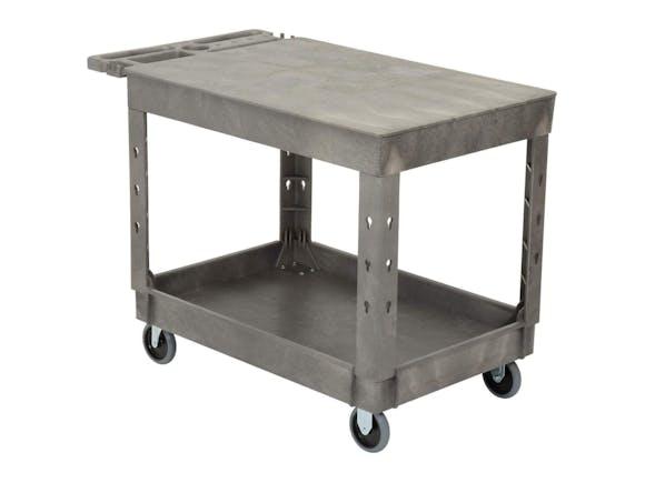 Utility Cart Flat Top 2 Shelf Large