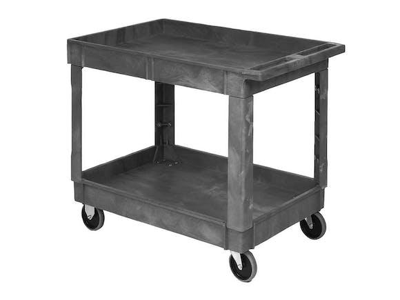 Utility Cart Tray Top 2 Shelf Large