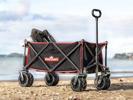 Mighty Carts Folding Beach Cart Black