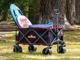 Mighty Carts Folding Beach Cart Black & Red