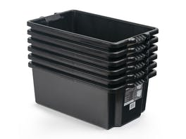 Storage Crate Fish Bin Heavy Duty 54L - 6 Pack