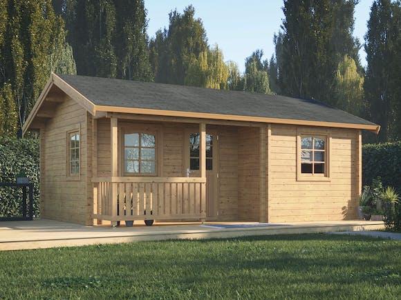 Log Cabin Garden House Sandra 6.0m x 4.4m