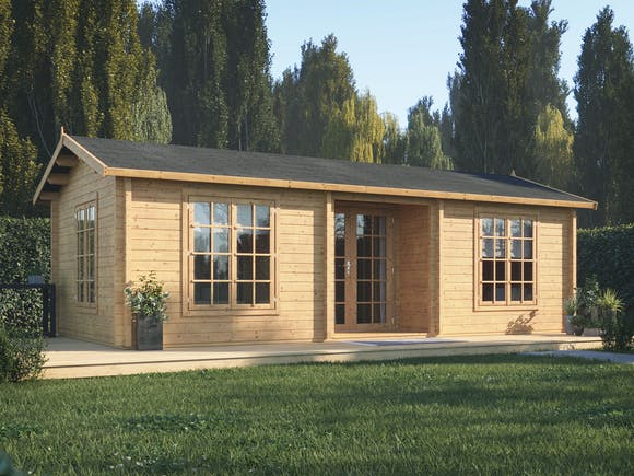 Log Cabin Garden House Anna 7.4m x 4m