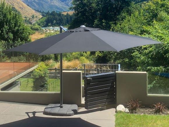 Shelta Regis Cantilever Umbrella O'Bravia 3.5m - Charcoal
