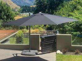 Shelta Regis Cantilever Umbrella O'Bravia 3.5m - Black