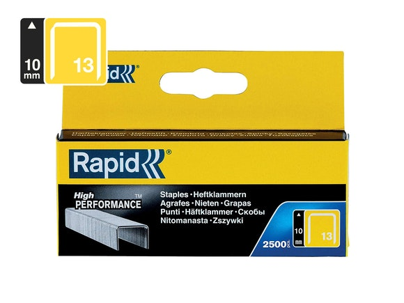 Rapid Finewire Staples Galvanised 13/10 - Pack of 2500