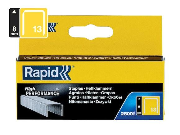 Rapid Finewire Staples Galvanised 13/8 - Pack of 2500