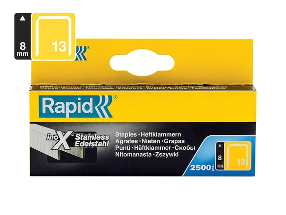 Rapid Finewire Staples Stainless Steel 13/8 - Pack of 2500