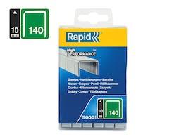 Rapid Flatwire Staples Galvanised 140/10 - Pack of 5000