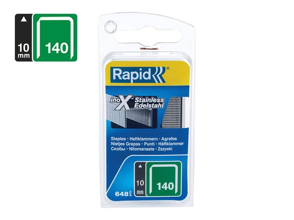 Rapid Flatwire Staples Stainless Steel 140/10 - Pack of 648