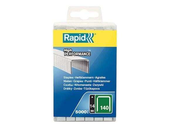 Rapid Flatwire Staples Galvanised 140/14 - Pack of 5000