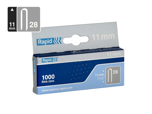 Rapid Mini Cable Staples 28/11 - Pack of 1000