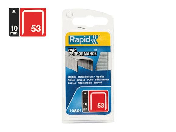 Rapid Finewire Staples Galvanised 53/10 - Pack of 2500