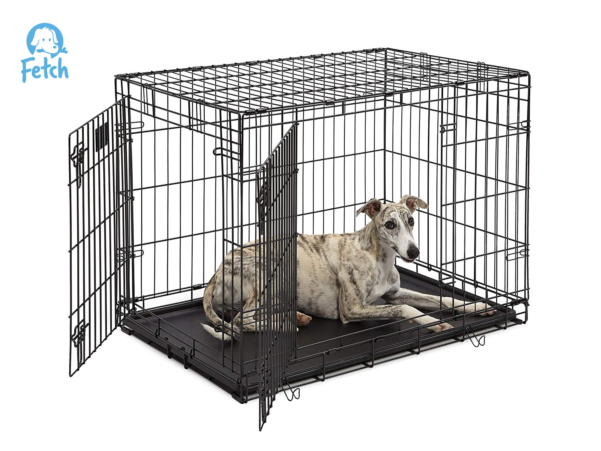Wondrous Fetch Dog Crate Cage Double Door Foldable Large Machost Co Dining Chair Design Ideas Machostcouk