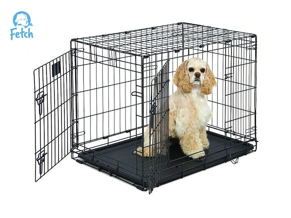 Dog Crate Cage Double Door Foldable - Medium