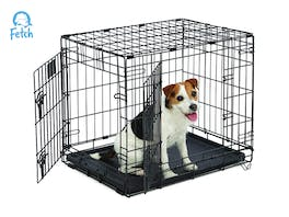 Fetch Dog Crate Cage Double Door Foldable - Small
