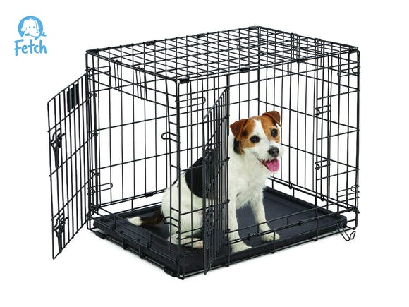 Dog Crate Cage Double Door Foldable - Small