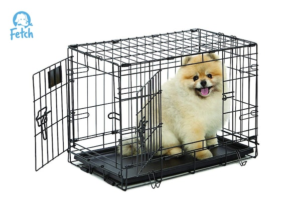 Fetch Dog Crate Cage Double Door Foldable - X-Small