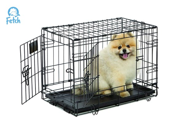 Dog Crate Cage Double Door Foldable - X-Small