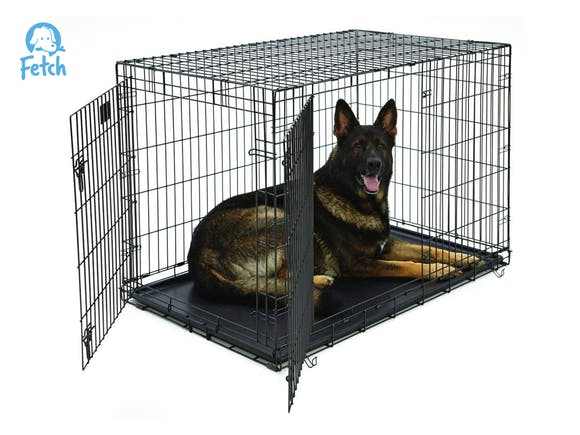 Dog Crate Cage Double Door Foldable - XXL