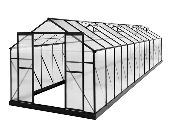Evergreen Greenhouse 24 x 8ft Black