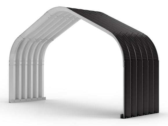 Arch Building Extension 6.1m x 1.83m Ironsand