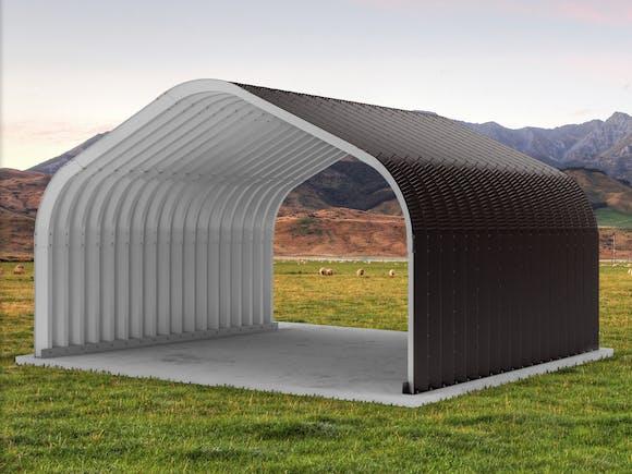 Arch Building 6.1m x 5.55m x 3.68m Ironsand