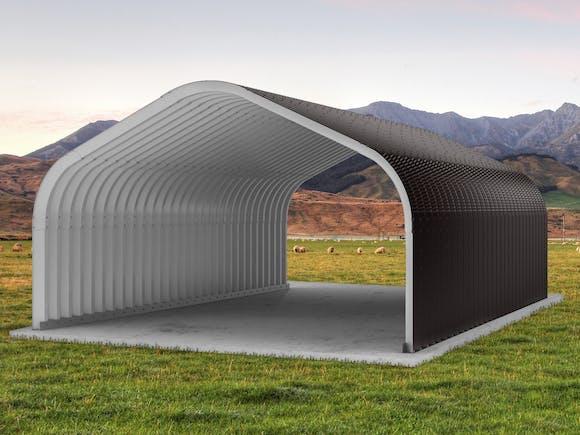 Arch Building 6.1m x 9.21m x 3.68m Ironsand