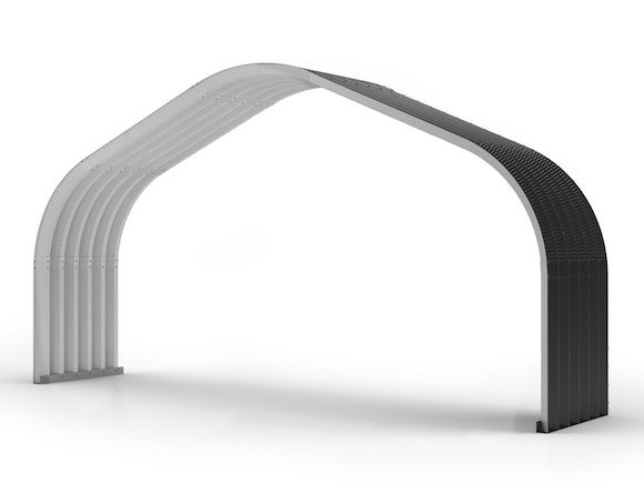 Arch Building Extension 8.78m x 1.83m Ironsand