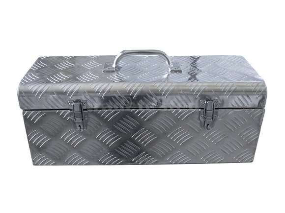 Aluminium Checker Plate Toolbox 575mm