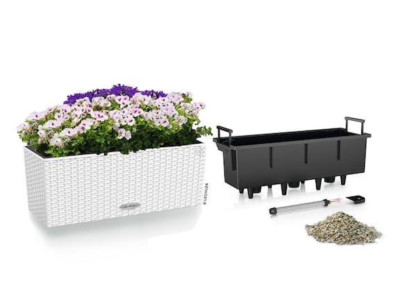Lechuza Balconera Cottage Planter 50 - White