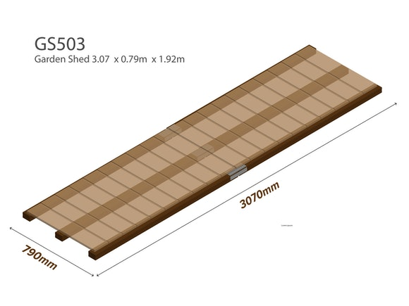 Garden Shed Wooden Floor Kit 3.07m x 0.79m