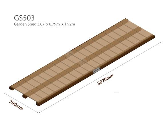 Garden Shed Wooden Floor Kit 3.07m x 0.79m
