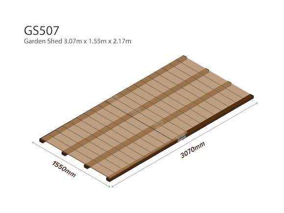 Garden Shed Wooden Floor Kit 3.07m x 1.55m