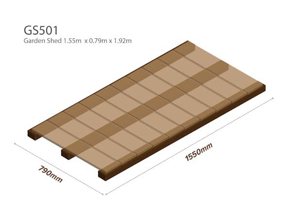 Garden Shed Wooden Floor Kit 1.55m x 0.79m